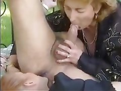 Cumshot Granny Mature MILF Threesome