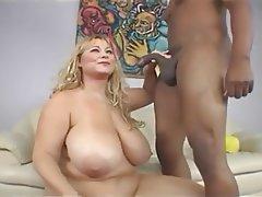 BBW Big Boobs Big Butts Blonde Interracial