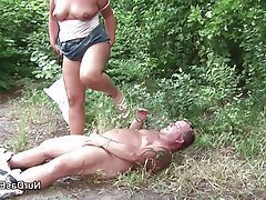 German Hardcore MILF Old and Young Outdoor