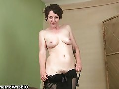 Mature Masturbation MILF Stockings