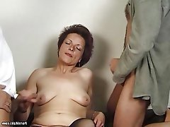 Granny Hairy Mature Old and Young Saggy Tits