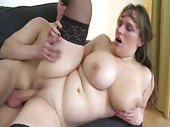BBW Big Boobs Granny Mature MILF
