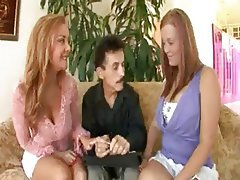 Mature MILF Old and Young Threesome