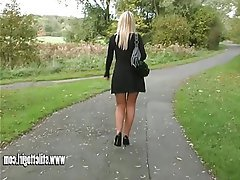 Babe Blonde Foot Fetish High Heels Pantyhose