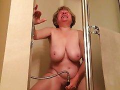 Granny Masturbation Mature Orgasm Shower