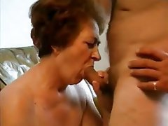 Blowjob Facial Granny Mature Old and Young