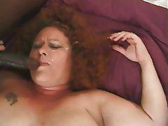 Granny Hairy Interracial Mature Redhead
