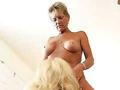 Big Boobs Mature MILF Old and Young Threesome