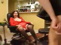 BBW Lesbian Mature Old and Young Strapon