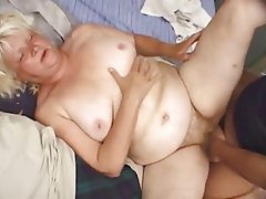 BBW Blonde Granny Mature Old and Young