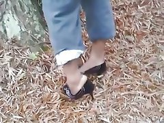 Foot Fetish Outdoor Stockings
