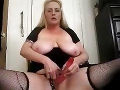 BBW Big Boobs Blonde Masturbation