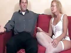 Blonde Creampie Mature Old and Young Stockings
