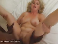 Blonde Hardcore Interracial Mature MILF