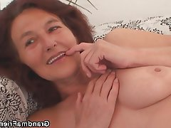 Granny Mature Old and Young Threesome